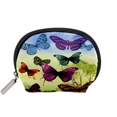 Butterfly Painting Art Graphic Accessory Pouches (small)