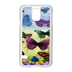 Butterfly Painting Art Graphic Samsung Galaxy S5 Case (white)