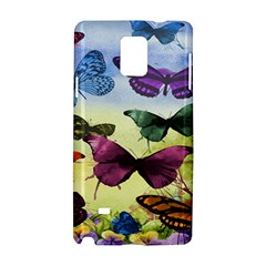 Butterfly Painting Art Graphic Samsung Galaxy Note 4 Hardshell Case