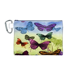 Butterfly Painting Art Graphic Canvas Cosmetic Bag (M)
