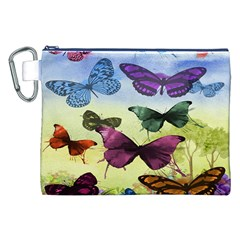 Butterfly Painting Art Graphic Canvas Cosmetic Bag (xxl)