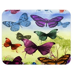 Butterfly Painting Art Graphic Double Sided Flano Blanket (medium)