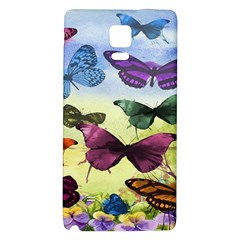 Butterfly Painting Art Graphic Galaxy Note 4 Back Case