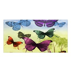 Butterfly Painting Art Graphic Satin Shawl