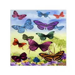 Butterfly Painting Art Graphic Small Satin Scarf (square)