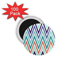 Chevrons Colourful Background 1 75  Magnets (100 Pack)