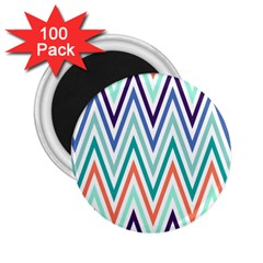 Chevrons Colourful Background 2 25  Magnets (100 Pack)