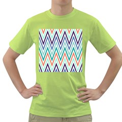 Chevrons Colourful Background Green T-Shirt