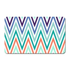 Chevrons Colourful Background Magnet (Rectangular)