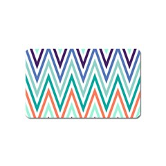 Chevrons Colourful Background Magnet (Name Card)
