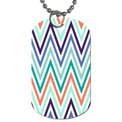 Chevrons Colourful Background Dog Tag (One Side)