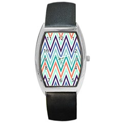 Chevrons Colourful Background Barrel Style Metal Watch