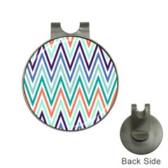 Chevrons Colourful Background Hat Clips with Golf Markers