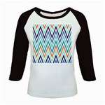 Chevrons Colourful Background Kids Baseball Jerseys Front