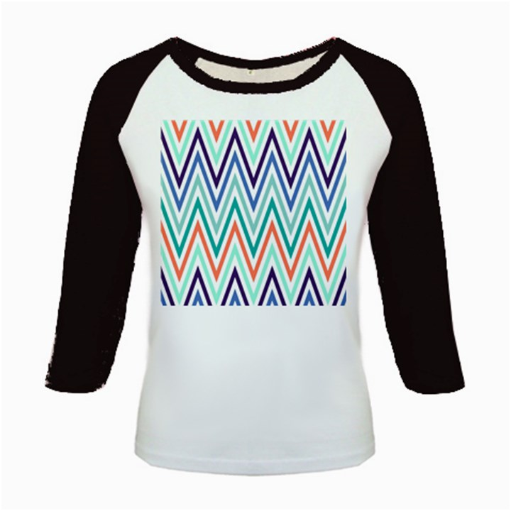 Chevrons Colourful Background Kids Baseball Jerseys