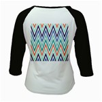 Chevrons Colourful Background Kids Baseball Jerseys Back