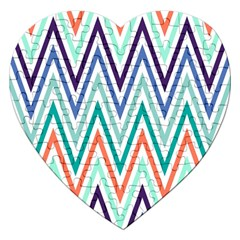 Chevrons Colourful Background Jigsaw Puzzle (Heart)
