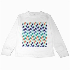 Chevrons Colourful Background Kids Long Sleeve T-Shirts