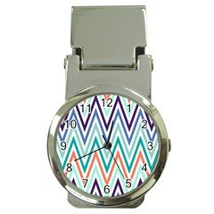 Chevrons Colourful Background Money Clip Watches