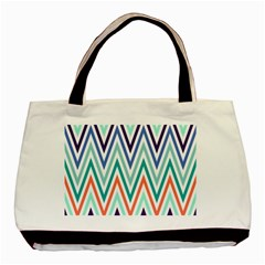 Chevrons Colourful Background Basic Tote Bag