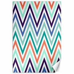 Chevrons Colourful Background Canvas 20  x 30