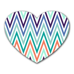 Chevrons Colourful Background Heart Mousepads