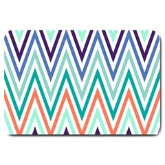 Chevrons Colourful Background Large Doormat
