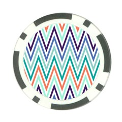 Chevrons Colourful Background Poker Chip Card Guard