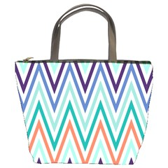 Chevrons Colourful Background Bucket Bags