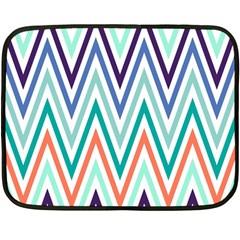 Chevrons Colourful Background Fleece Blanket (mini)