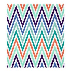 Chevrons Colourful Background Shower Curtain 66  x 72  (Large)