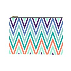 Chevrons Colourful Background Cosmetic Bag (Large)