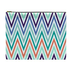 Chevrons Colourful Background Cosmetic Bag (XL)