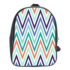 Chevrons Colourful Background School Bags(large)