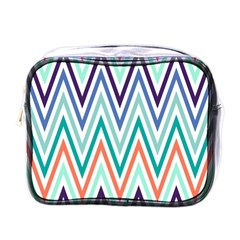 Chevrons Colourful Background Mini Toiletries Bags
