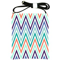 Chevrons Colourful Background Shoulder Sling Bags