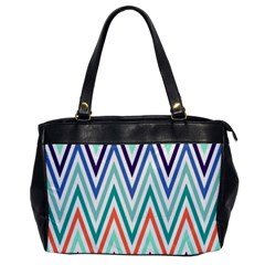 Chevrons Colourful Background Office Handbags