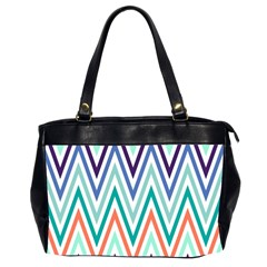 Chevrons Colourful Background Office Handbags (2 Sides)