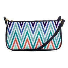 Chevrons Colourful Background Shoulder Clutch Bags