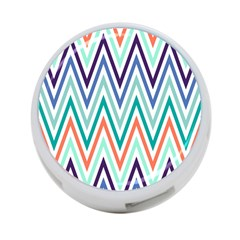 Chevrons Colourful Background 4-Port USB Hub (One Side)