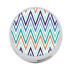 Chevrons Colourful Background 4-Port USB Hub (Two Sides)