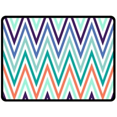Chevrons Colourful Background Fleece Blanket (Large)