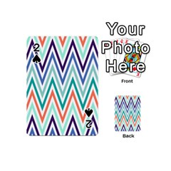 Chevrons Colourful Background Playing Cards 54 (Mini)
