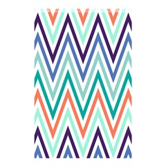 Chevrons Colourful Background Shower Curtain 48  x 72  (Small)