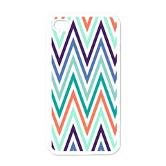 Chevrons Colourful Background Apple Iphone 4 Case (white)