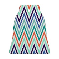 Chevrons Colourful Background Ornament (Bell)
