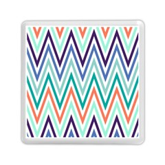 Chevrons Colourful Background Memory Card Reader (Square)