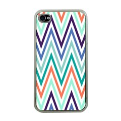 Chevrons Colourful Background Apple iPhone 4 Case (Clear)