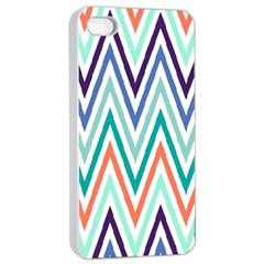 Chevrons Colourful Background Apple iPhone 4/4s Seamless Case (White)