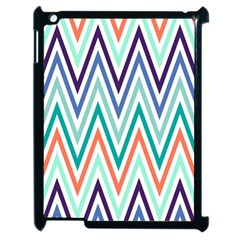 Chevrons Colourful Background Apple Ipad 2 Case (black)